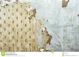 peeling wallpaper on drywall stock image image 35112061