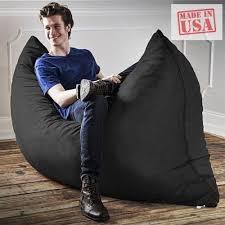 luxury oversized bean bag chair black large floor pillow lounger