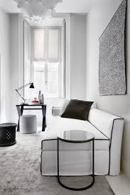 Black And White Interiors by Meridiani I Law Sofa Bed I Peck Low Table I Cruise Writing Desk I