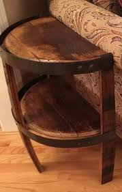 whiskey barrel side table local pick up listing bourbon whiskey barrel stave side table with