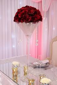 martini champagne rose martini vase with rose dome beyond expectations weddings u0026 events