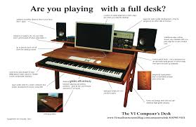 lay down computer desk the vi composer s desk when you want to lay down some keys you don