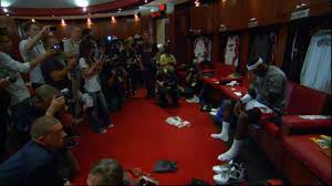 lebron having a quiet moment in the locker room before game 5