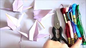 how to make paper crane chains youtube