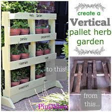diy vertical herb garden pallets vertical herbs garden diy pallet ideas recycled