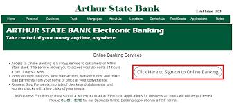 arthur state bank online banking login banklogindir com online