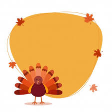 thanksgiving day background with turkey bird vector premium