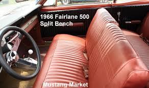 Steering Wheel Upholstery 1966 Fairlane Split Bench Seat Upholstery