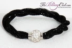 bracelet jewelry magnetic images Black twist stardust crystal magnetic bracelet bling on sale here jpg