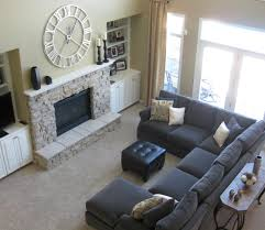 Leather Sectional With Chaise And Ottoman Furniture Sectionals Costco Furniture For Cozy Living Room