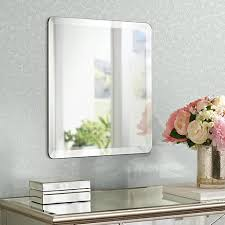 Beveled Bathroom Mirror by Square Frameless 18