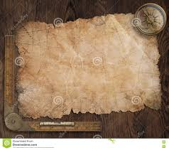 Pirates Map Old Pirates Treasure Map With Compass Stock Illustration Image