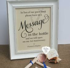 message in a bottle wedding message in the bottle wedding guest book wedding signs