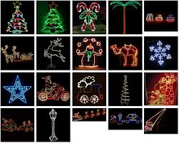 Outdoor Christmas Decorations Silhouettes by Outdoor Christmas Lights Silhouettes Led Santa Sleigh Silhouettes