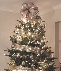 tree topper bow sale chagne white gold lantern