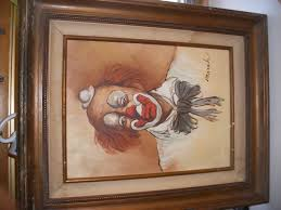 value of reginald marsh painting of a clown with artistic