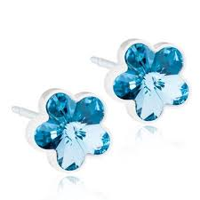 blomdahl earrings 8 best aquamarine flower by blomdahl images on