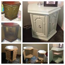 yep i did this take two old end tables sand them primer paint
