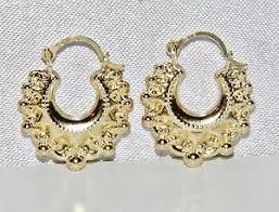 creole earrings 9ct yellow gold style creole earrings ebay
