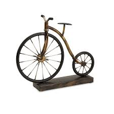 shop imax worldwide wrought iron vintage bicycle statue at lowes com