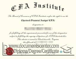 cfa certificate sample chartered financial analyst certificate