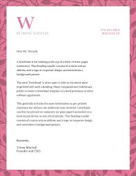 Business Letterhead Stationery Simple Design Templates Come Across As Professional To Potential Clients With A