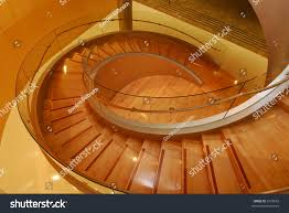 modern glass wooden spiral staircase stock photo 2579052