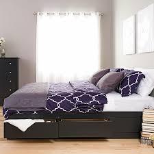 6 Drawer Bed Frame Furniture Black King Mate S Platform Storage Bed With