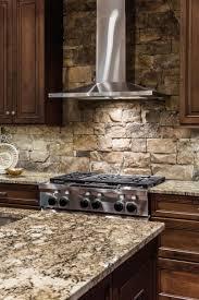 stone kitchens design airstone backsplash on awesome cozy kitchen design with lowesplus