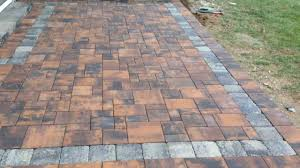 Paver Designs For Patios by Exterior Design Cozy Nicolock Pavers With Comfortable Lounge