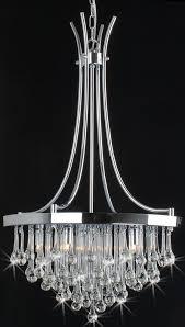Crystal Glass Chandelier Lighting Lamps Modern Chandelier Luxury Teardrop Chrome Crystal