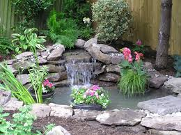Waterfalls In Backyard Ponds by Small Yard Ponds This Pond Fits Perfectly Into The Corner