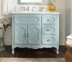 42 inch bathroom vanity cottage beadboard style light blue color