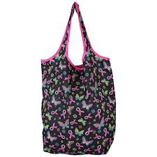 Breast Cancer Flags Pink Ribbon U0026 Butterflies Compact Shopping Bags Set Of 3 The