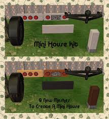 mod the sims the mini house kit