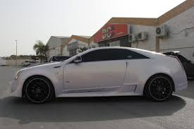 white cadillac cts black rims cadillac cts v coupé thanks to differently kit