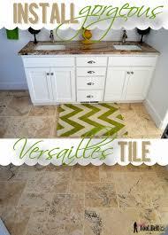 Installing Travertine Tile Travertine Versailles Pattern Tile Tutorial Tool Belt