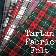 tartan fabric felt creative craft supplies for buttons die cut