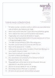 Terms And Conditions 5 Terms And Conditions For Sale
