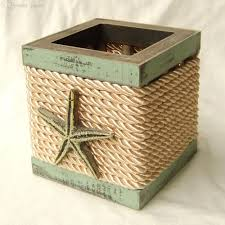 2017 wholesale nautical wood pen pencil holder green starfish home