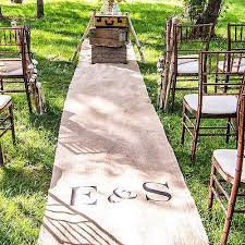 personalized aisle runner burlap aisle runner with monogram