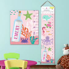 ocean growth chart personalized canvas growth chart under the