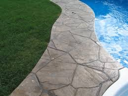Brushed Concrete Patio Gilliland Landscape Stamped Concrete