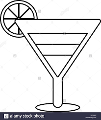 birthday martini white background cocktail clipart outline pencil and in color cocktail clipart