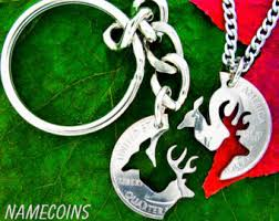 Buck And Doe Couples Necklace Buck And Doe Necklace Couples Necklaces Interlocking