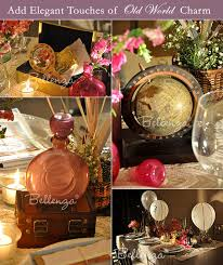travel themed table decorations how to decorate a vintage travel themed wedding unique wedding
