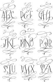 magnificent monograms new font available from tart workshop