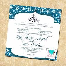 Asian Wedding Invitation Muslim Wedding Invitations Plumegiant Com