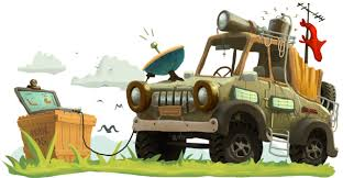 safari jeep cartoon illustration work u2013 lbrto