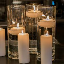 Vases With Flowers And Floating Candles Glass Cylinder Vases Wedding Vases Reception Floating Candle